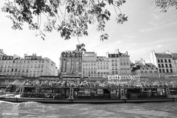 Tourists enjoying the View at Siene River in Paris