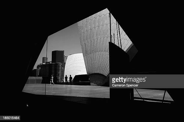 Tourists explore the forecourt of the Sydney Opera House on September 20 2013 in Sydney Australia On October 20 2013 the iconic Sydney Opera House...
