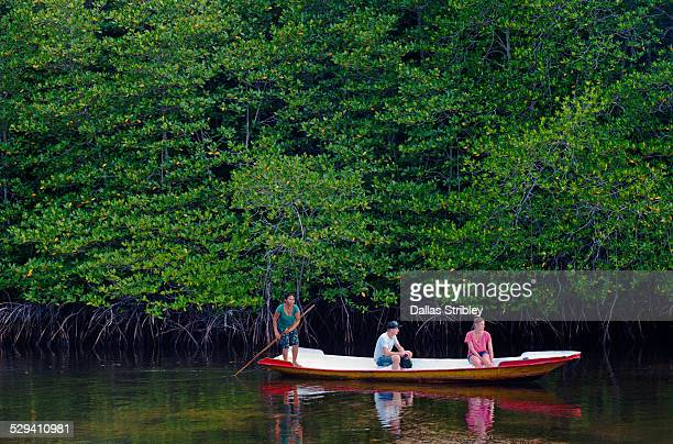 Tourists explore the mangroves of Nusa Lembongan