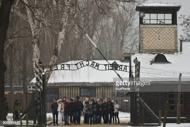 Tourists from all around the world visit the Auschwitz 1 camp just a few days ahead of the 73rd anniversary of the liberation of the German Nazi...