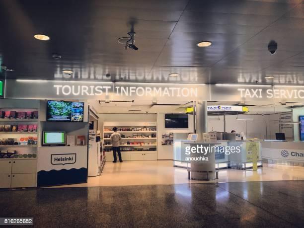 Touristen immer Informationen in Flughafen Helsinki-Vantaa, Finnland