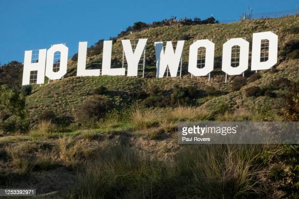 Tourists hike to the Hollywood sign on December 15 in Los Angeles California Originally created in 1923 as a temporary advertisement for a local real...