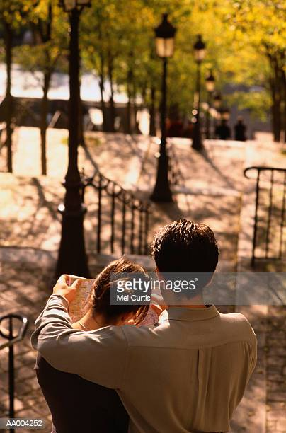 Tourists in a Paris Park