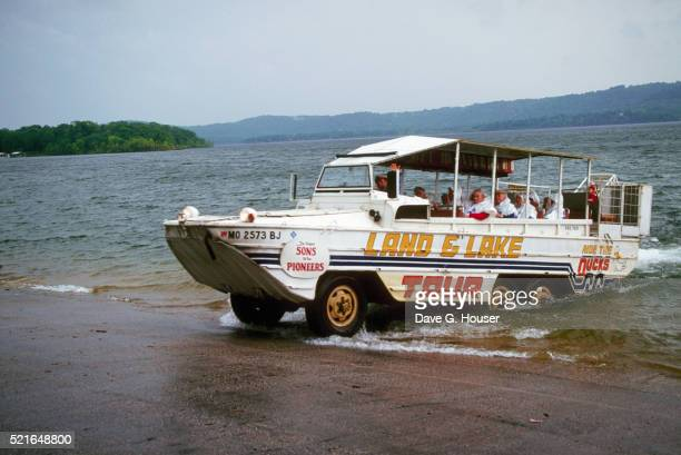 Tourists in Amphibious Vehicle