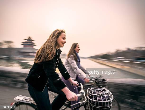 北京でのサイクリング、自転車旅行