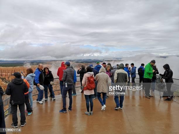turistas no parque nacional bryce canyon - bryce canyon - fotografias e filmes do acervo
