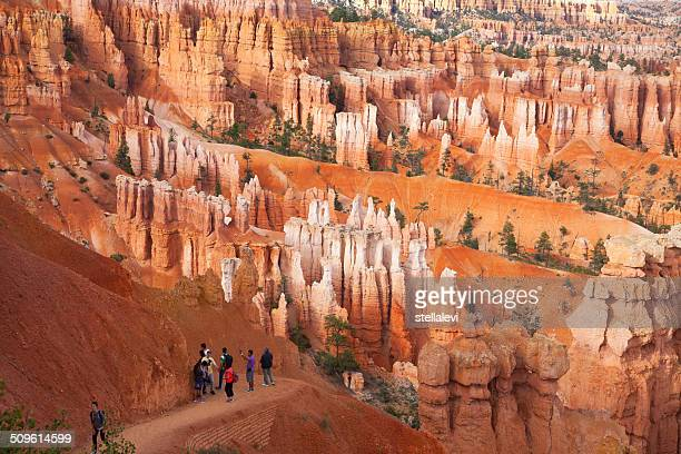 Tourists in Bryce Canyon National Park, Utah