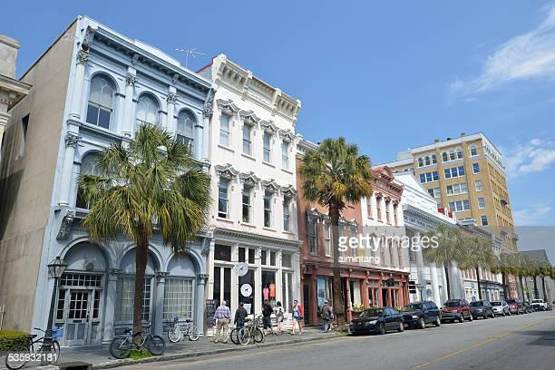 Tourists in Downtown Charleston of South Carolina