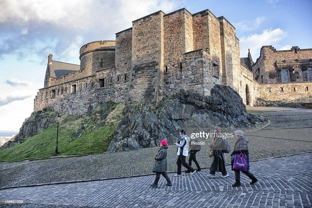 Tourists in Edinburgh Castle : Stock Photo