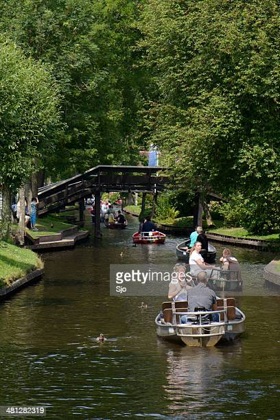 Tourists in Giethoorn
