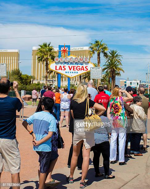Tourists in Las Vegas