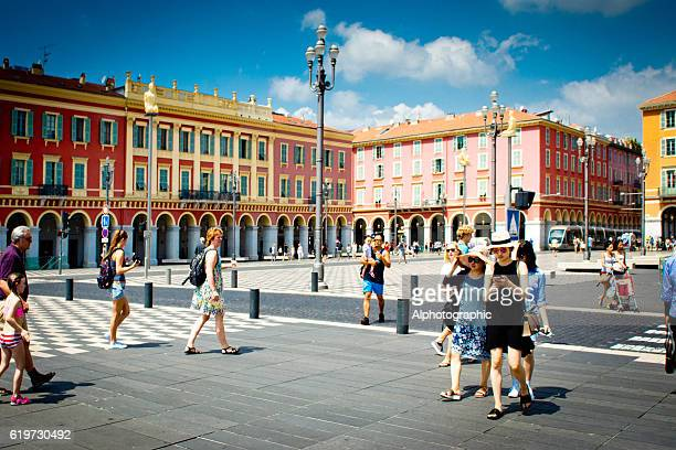 Tourists in Place Massena Nice, France