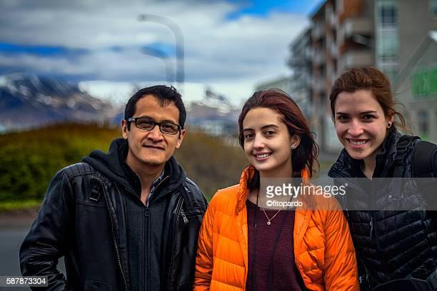 Tourists in Reykjavik
