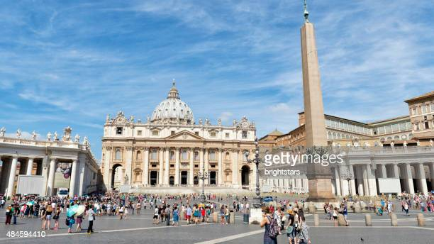 Tourists in St. Peter's Square, Vatican