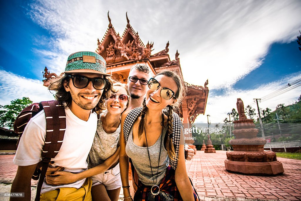 Tourists in Thailand : Stock Photo