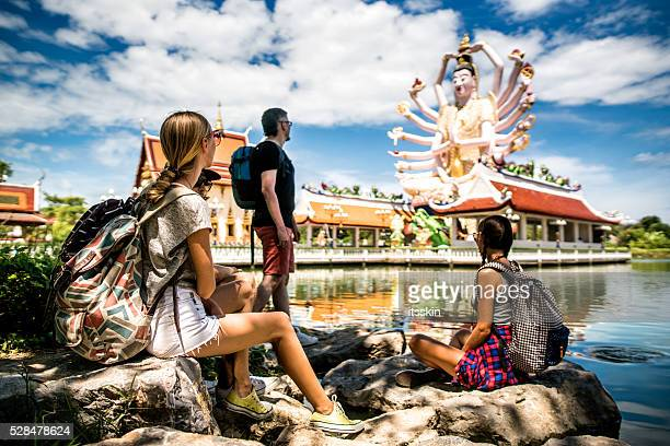 tourists in thailand - ko samui stock photos and pictures