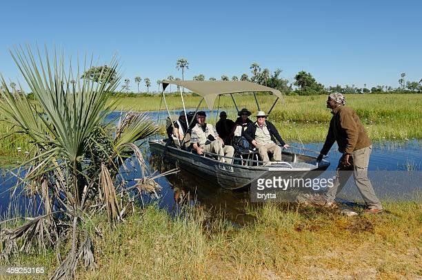 Tourists in the Okavango Delta