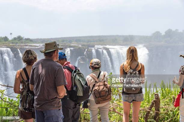 Tourists in the Victoria falls