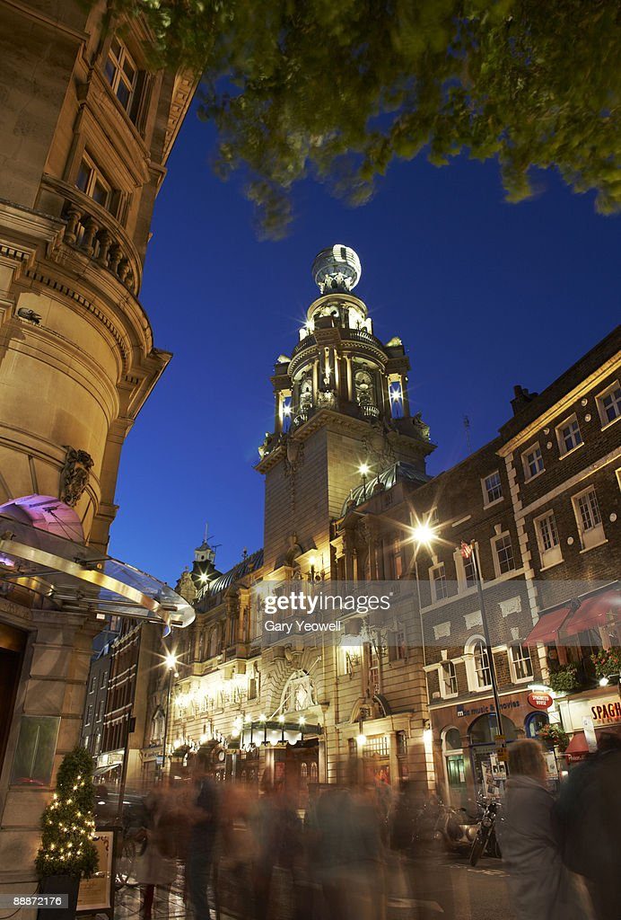 Tourists In Theatre District Of London Stock Photo - Getty