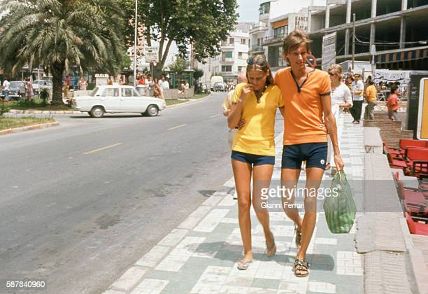 Tourists in Torremolinos Malaga Andalusia Spain Photo by Gianni Ferrari/Cover/Getty Images
