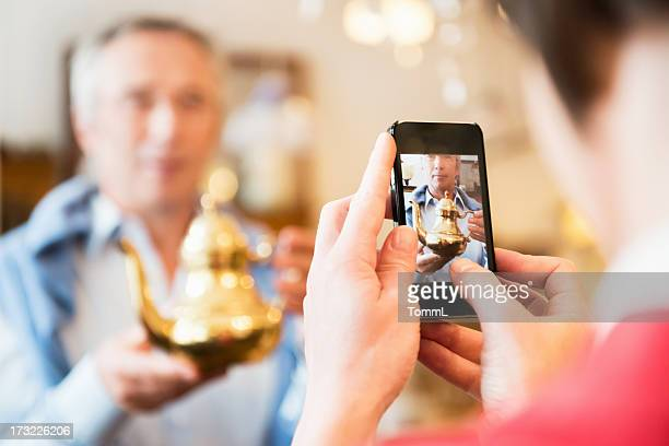 Tourists Inside Antique Store Taking Pictures