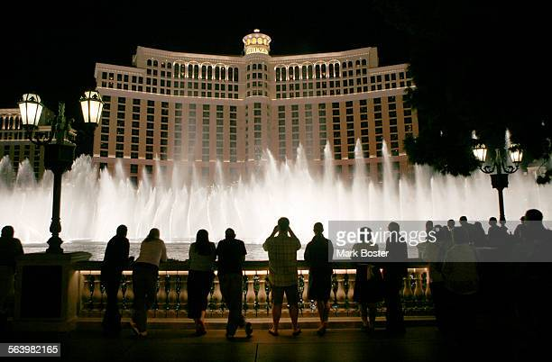–Tourists line up in front of the Bellagio In Las Vegas to watch the water showWild art scenes around Las Vegas to go with a story about the best and...