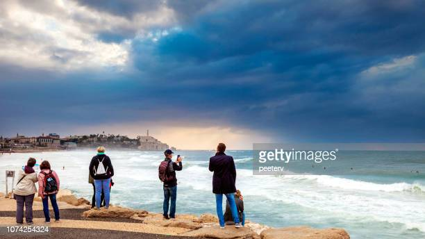 Tourists looking at view - Tel Aviv, Israel