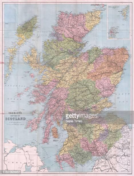 1892 Tourist's New Map of Scotland