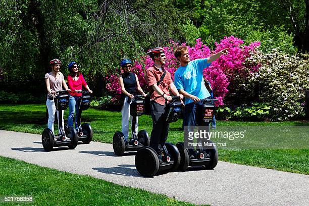 Tourists on an 'I Glide' Segway tour of Fairmount Park
