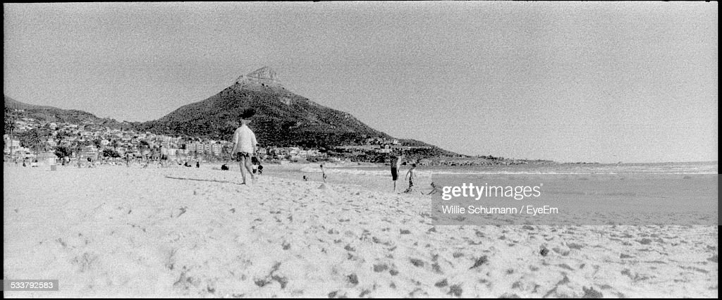 Tourists On Beach : Foto stock