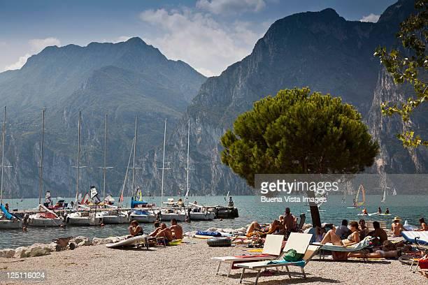 Tourists on Garda Lake