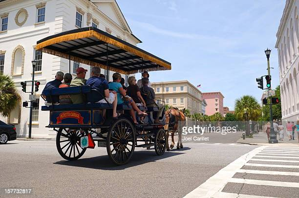 Charleston tourism and horse carriage