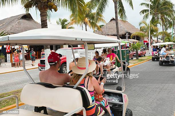 tourists on the island of isla mujeres, cancun, mexico - isla mujeres stock pictures, royalty-free photos & images