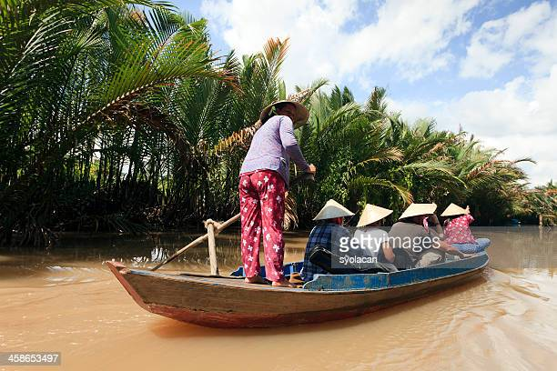 tourists on water taxi - syolacan stock pictures, royalty-free photos & images