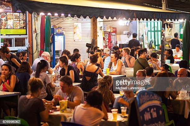 Tourists outside of restaurant in Khaosan Road