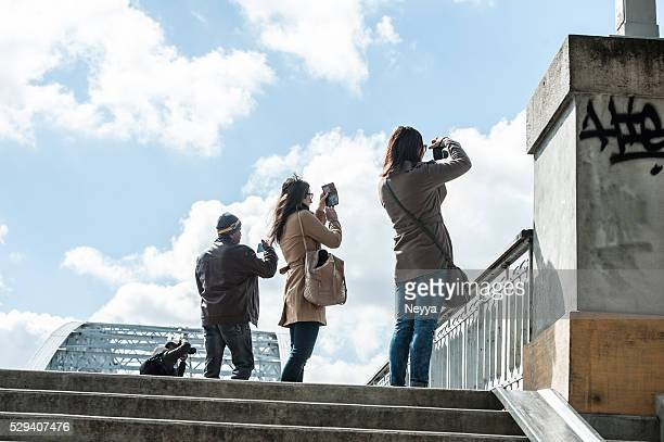Tourists photographers in Paris, France