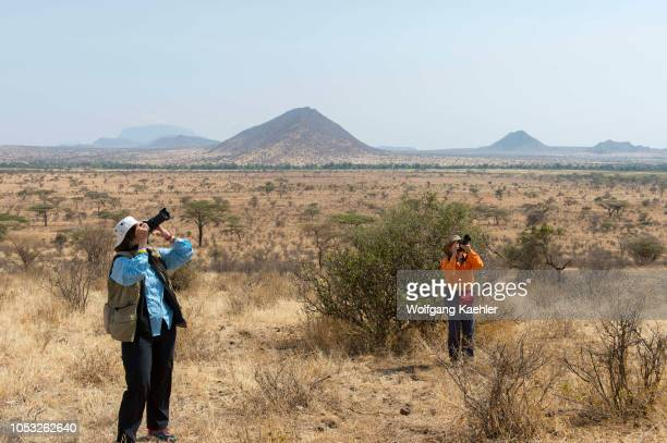 Tourists photographing in the Samburu National Reserve in Kenya