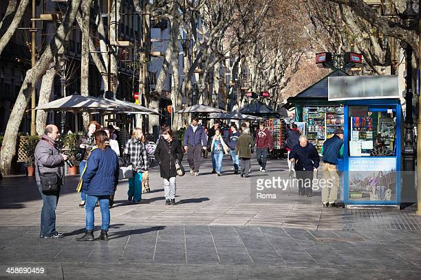 tourists - the ramblas stock pictures, royalty-free photos & images