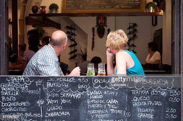 tourists - tapas stock photos and pictures
