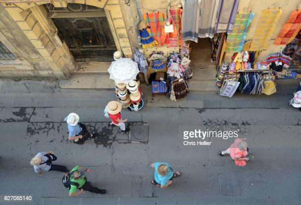 Tourists & Provencal Souvenir Shop Arles