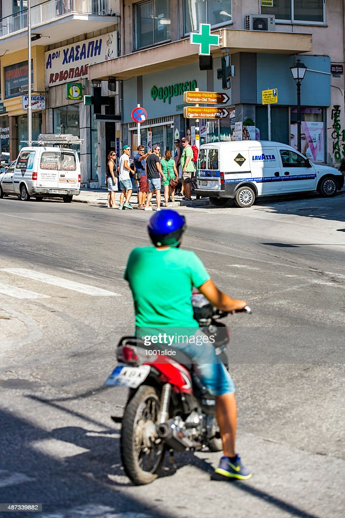 Tourists searching their way : Stock Photo