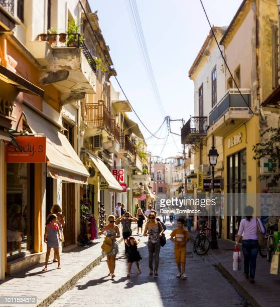 Tourists Shopping in Rethymnon / Rethymno Town, on the Greek Island of Crete