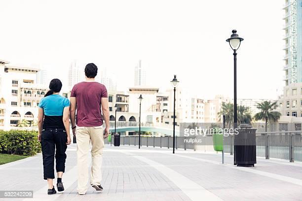 tourists sightseeing in dubai