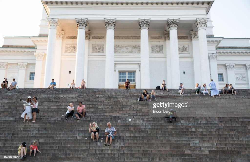 Helsinki City Views Amid Heatwave Warning : News Photo