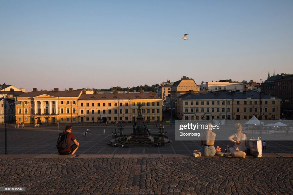 Helsinki City Views Amid Heatwave Warning