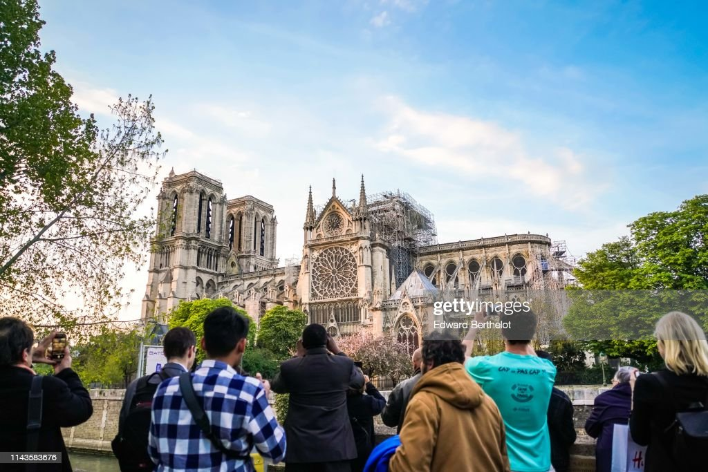 Parisians Invited To Pay Hommage To Notre Dame Benefactors : News Photo