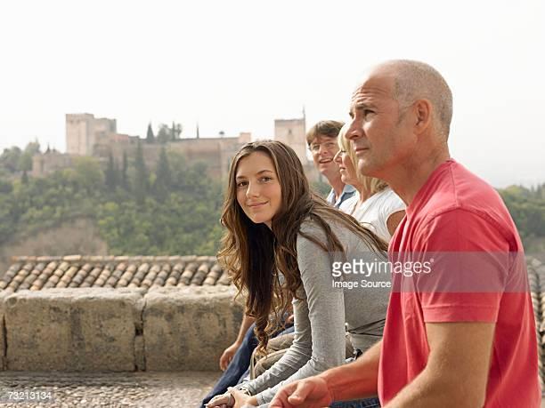 Los turistas toman un receso