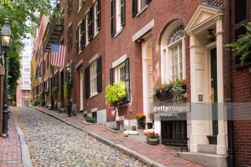 Beacon Hill, Boston, Massachusetts, USA : News Photo