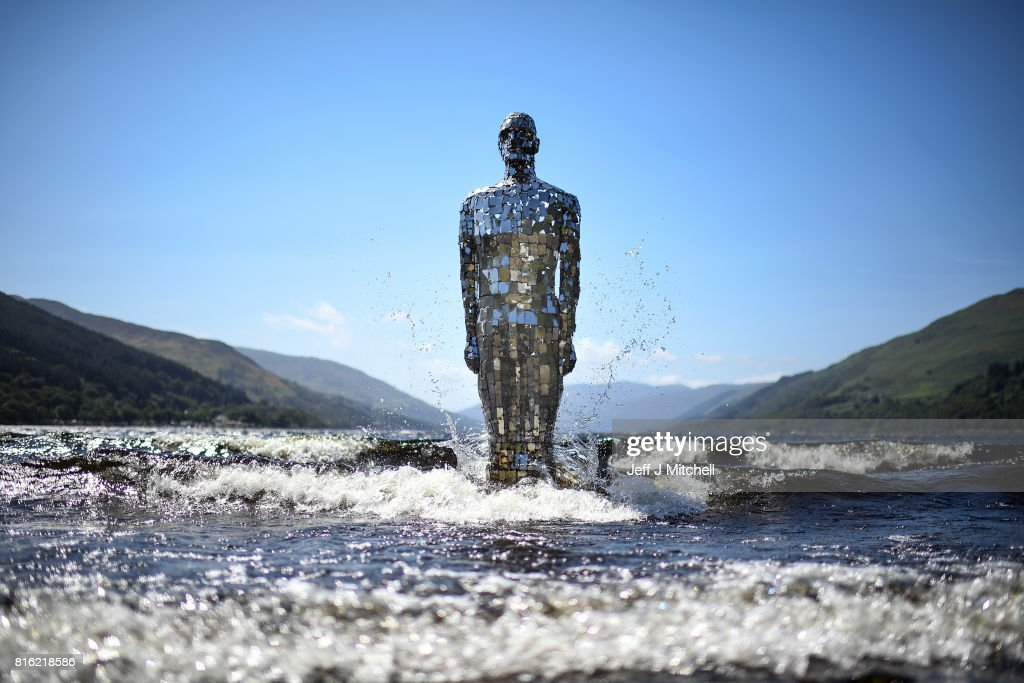 Loch's 'Mirror Man' Rises For The Summer : ニュース写真