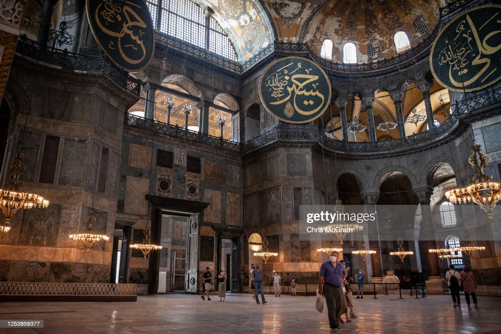 Debate Continues Over Turkey's Hagia Sophia Status : News Photo